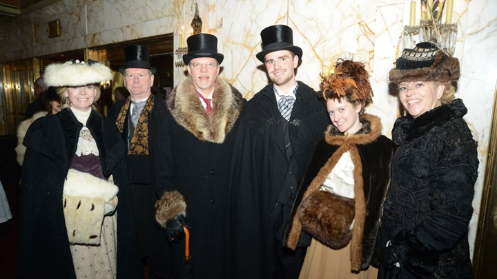 Many Downton Abbey fans dressed in period clothing.