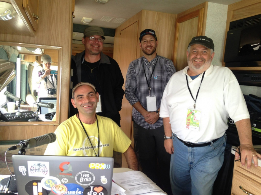 88.9 WCVE Staff at the Richmond Folk Festival