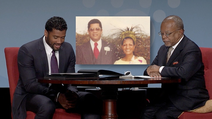 Russell Wilson  and Dr. Henry Louis Gates, Jr.