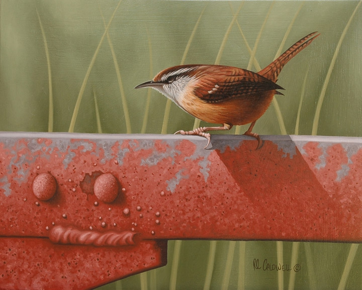 Robert Louis Caldwell wren painting