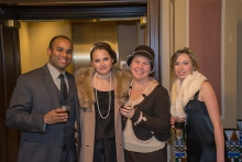 Guests at our Downton Abbey preview dress in style