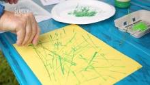 pine needle painting