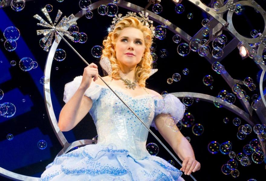 Gina Beck stars as Glinda in Wicked at the Altria Theatre. The show opens Wednesday.