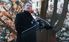 Governor Northam speaks at a gun control rally.